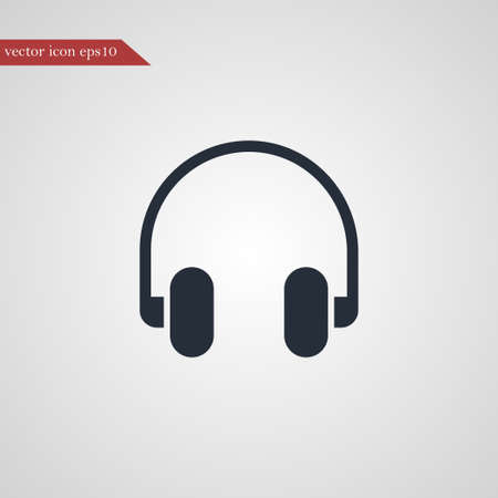 Headphone icon simple music sign vector illustration Ilustração