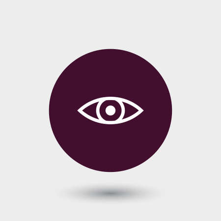 Eye icon simple view sign vector illustration