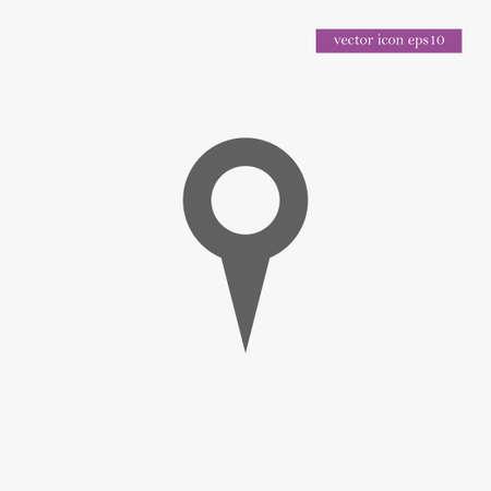 Location icon simple travel sign vector illustration Ilustração