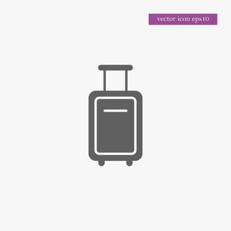 Baggage icon simple suitcase sign vector luggage illustration