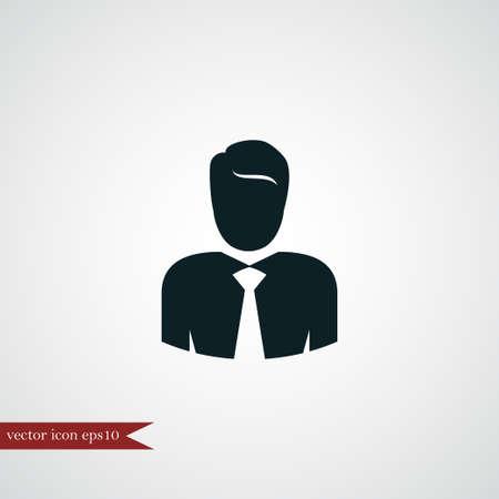 Businessman icon simple human sign vector illustration