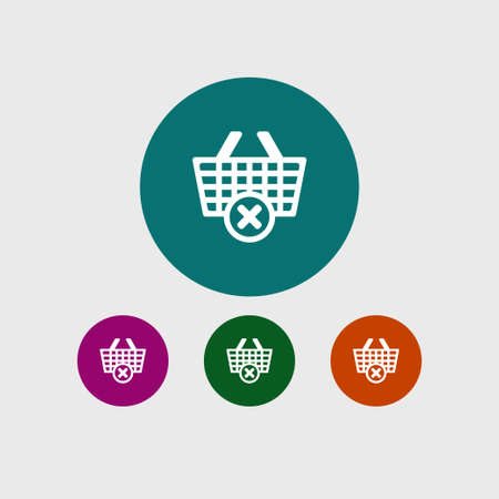 Catr icon simple online shopping vector illustration sign