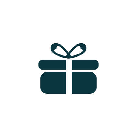 Gift icon simple present sign vector box illustration