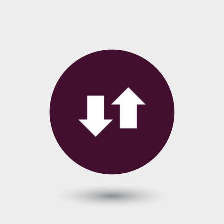 Arrow icon simple sign vector illustration
