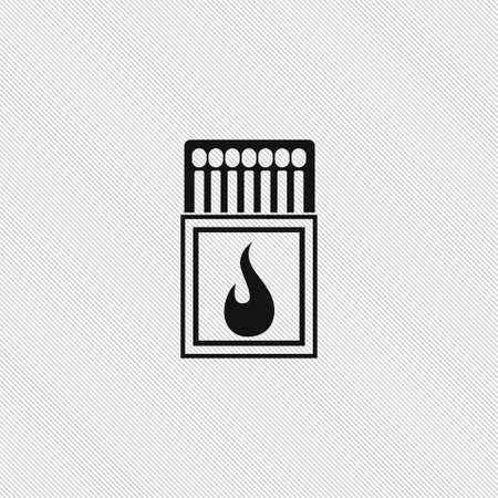 Matches icon simple camping vector illustration sign