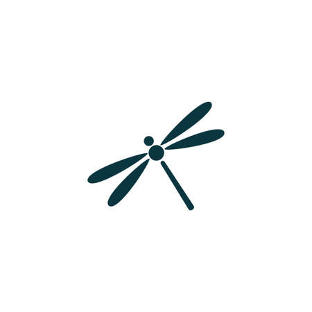 Dragonfly icon simple camping vector illustration sign