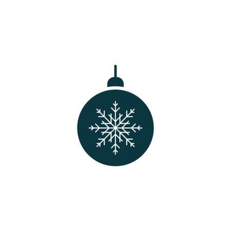 Christmas tree toy xmas icon simple vector illustration Vektoros illusztráció