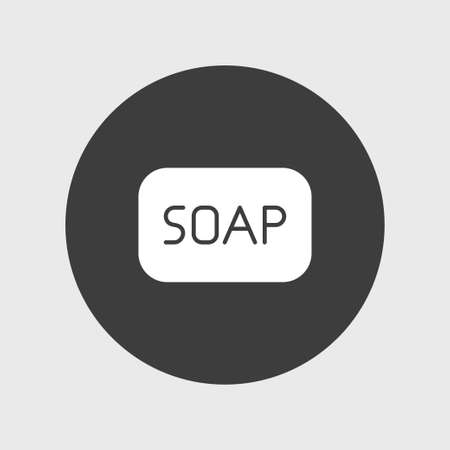 Soap icon simple cleaning sign vector illustration 向量圖像