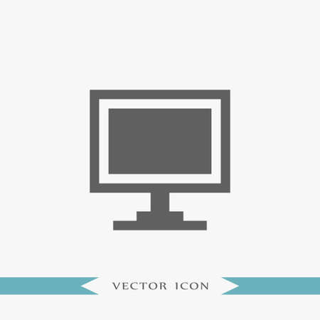 Monitor icon simple internet vector computer illustration
