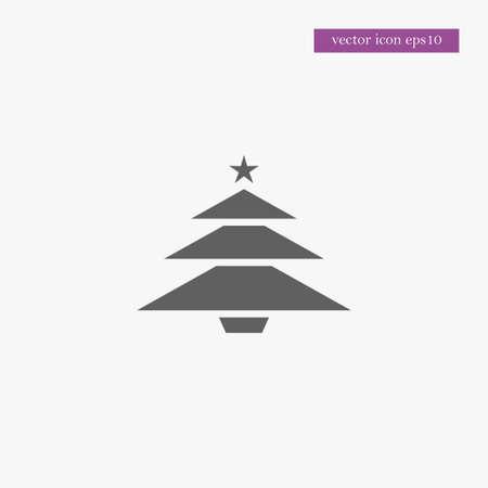 Christmas tree icon simple xmas symbol vector illustration