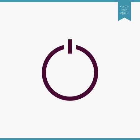 Icono de interruptor simple ilustración de computadora de vector de internet Ilustración de vector