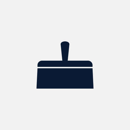 Putty knife icon simple construction sign vector illustration