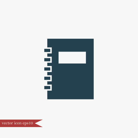 Note book icon simple sign vector illustration