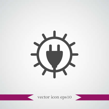 Sun energy icon simple ecology sign vector illustration