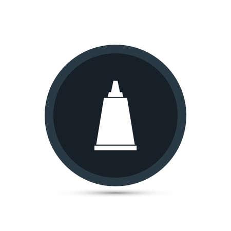 Cream tube icon simple bardershop sign vector illustration
