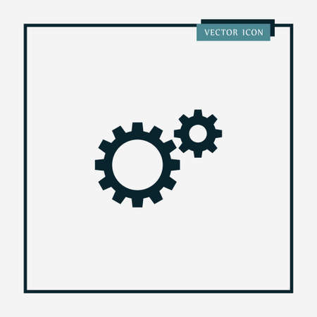 Gear icon simple vector illustration Vettoriali