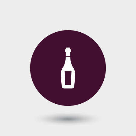 Champagne icon simple drink sign vector alcohol illustration