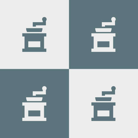 Coffee grinder icon simple coocking vector illustration sign