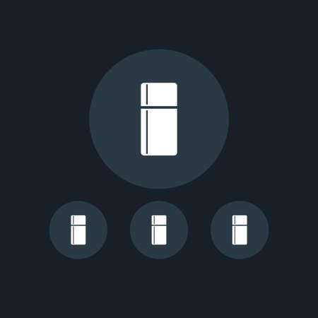 Fridge icon simple coocking vector illustration refrigerator sign