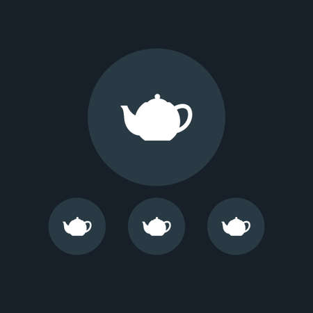 Teapot icon simple coocking vector illustration sign Illustration