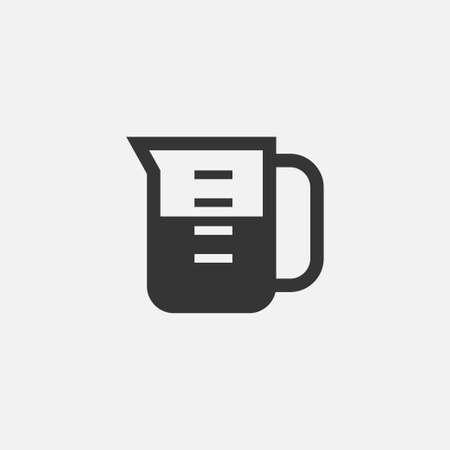 Measuring cup icon simple coocking vector illustration beaker sign Illustration