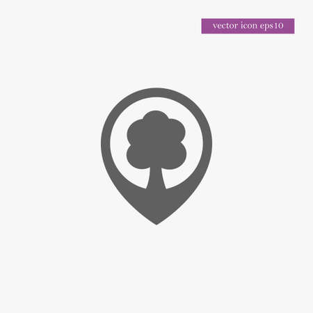 Tree location icon simple ecology vector eco illustration sign Banque d'images - 106910332