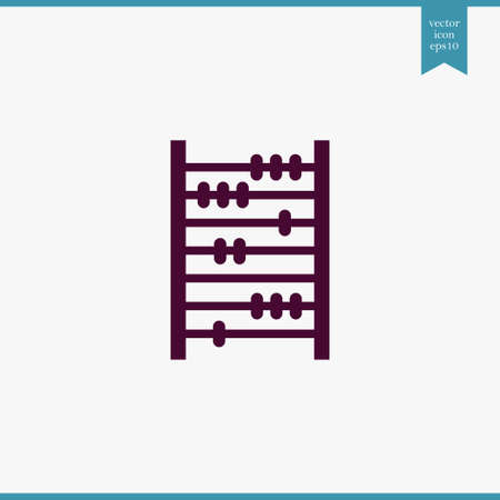 Abacus icon simple education sign vector office illustration