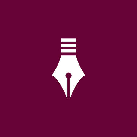 Pen icon simple education sign vector office illustration Vettoriali