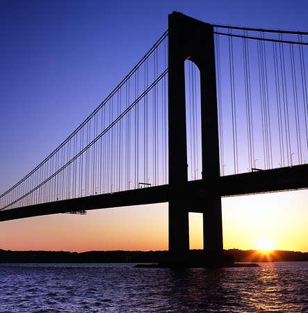 Verrazano Bridge at dusk Banco de Imagens