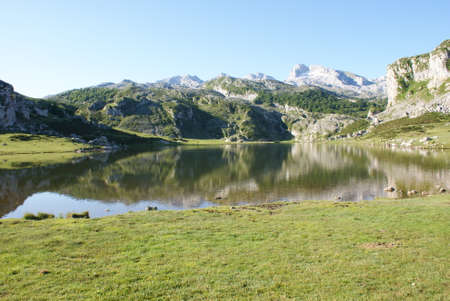 Lake at Peaks of Europe, Covadonga Lakes, Spain