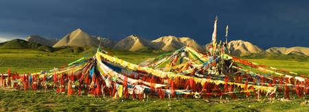 lamaism: Prayer Flags Stock Photo