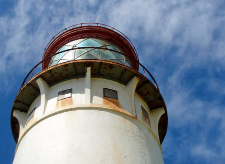 Lighthouse under a blue sky in Hawaii. Stock Photo - 8646826