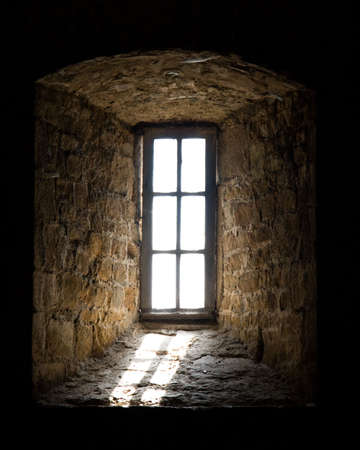 Light streaming through window, Mont St Michel, Normandy, France Stock Photo - 8117717