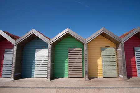 Row of Beach Huts in Blyth, Northumberland, UK Stock Photo - 10017485