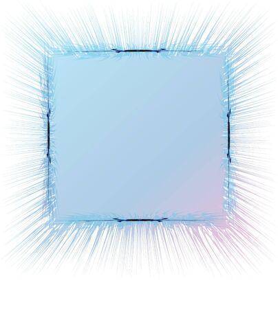 blasted: blasted border in blue