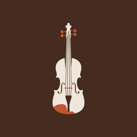 Classical violin icon. Isolated vector string set. Ilustração Vetorial