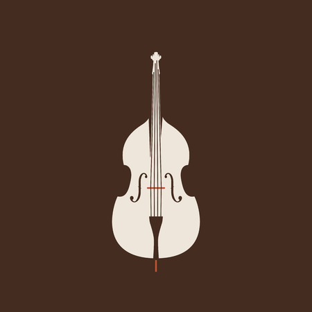 Contrabass icon. Isolated vector string set.