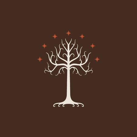 White Tree of Gondor. Isolated symbol of story, book, movie