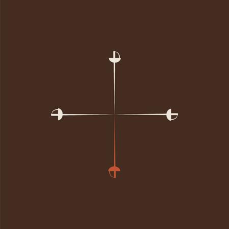 Three Musketeers original vector logo. Book symbol