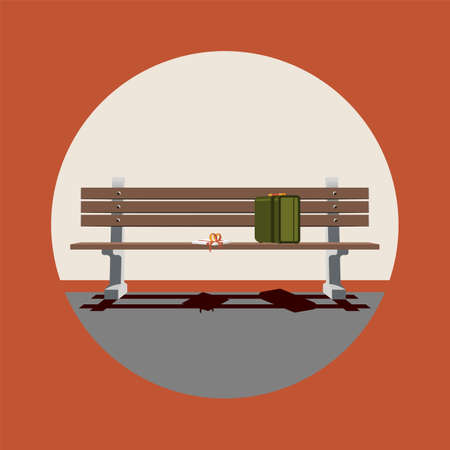 Icona stilizzata del film di Forrest Gump. Corsa. La vita è una scatola di cioccolatini Vettoriali