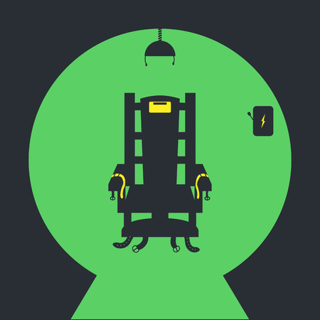 Electric chair Vector icon on Green background