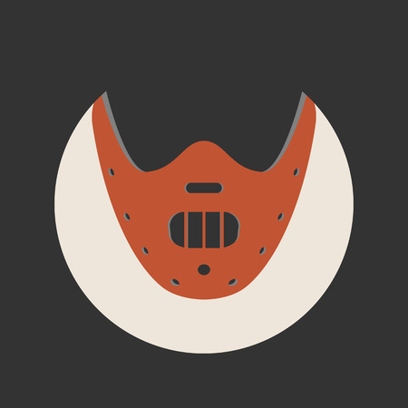 The Silence Of The Lambs movie icon. Hannibal Lecter ripper mask.