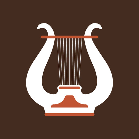 Lure flat vector icon. Folk music instrument