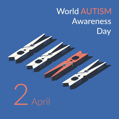 Creative concept vector illustration for World Autism awareness day. Can be used for banners, backgrounds, symbol, badge, icon, sticker, posters, brochures, print and awareness campaign for autism.