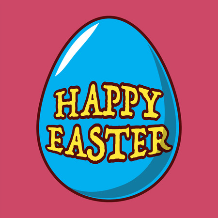 Happy Easter eggsicon. Spring holidays in April. Gift. Seasonal celebration.Egg hunt Sunday.  イラスト・ベクター素材
