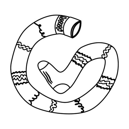 Black and White Pippi Longstocking vector icon. Isolated logo