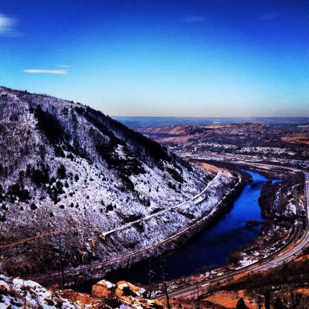 appalachian: Appalachian  mountain trail in winter Stock Photo