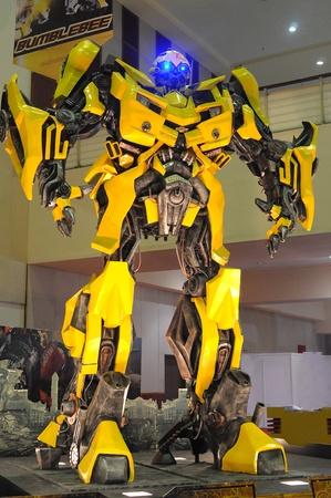 autoshow: KUALA LUMPUR, MALAYSIA - DEC 09: Replica of Bumblebee from Transformers were displayed at Kuala Lumpur International Motor Show on December 9, 2010 in Kuala Lumpur Malaysia