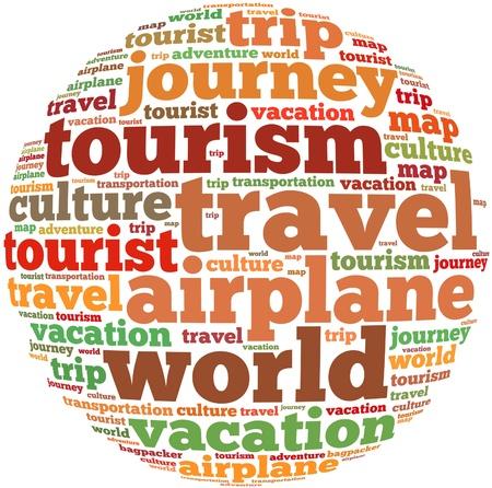 tour guide: Viajes texto informaci�n de gr�ficos y el concepto de acuerdo en el fondo blanco nube de palabras