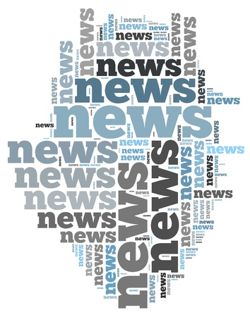 news info-text graphics and arrangement concept on white background  word cloud